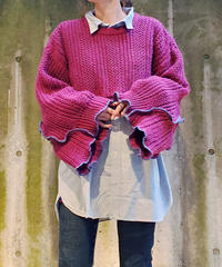 [Remake] Bell Sleeve Knit 9 (Wine)