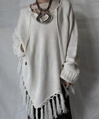 【USED】  Crochet Knit L/S Top⑦/211014-058