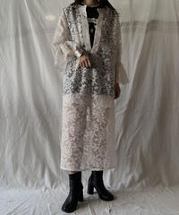 【RE;CIRCLE】 RE Lace L/S Open Front One-piece①/210611-029