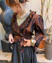 【Used】Shiny Frill Shirts Jacket  /200531-007
