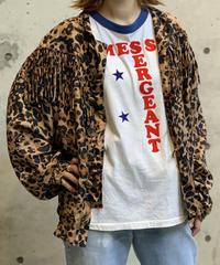 【RE;CIRCLE】Leopard Fringe Nylon jacket /200911-030