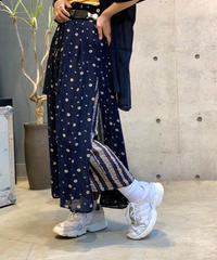 【Used】Flower Long Skirt  Pants Set