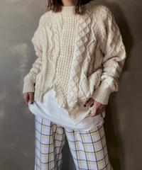 【RE;CIRCLE】 Patchwork Cable Knit ② / 201112-024