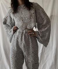 【RE;CIRCLE】 RE Crochet L/S Top①/210611-016