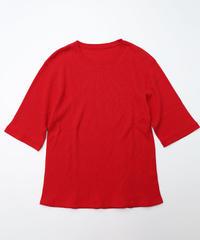 [着もちいい服] Thermal Half Sleeve T-shirt (Red)