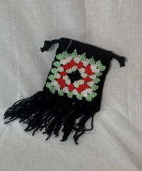 【RE;CIRCLE】 Granny Knit Pouch② /210404-005