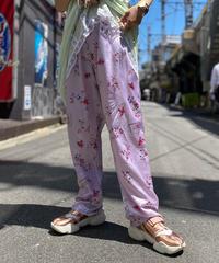 【Used】Flower Print Satin Pants