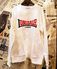 LONSDALE Flocky Print Sweat (Off White/Tricolor)