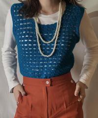 【USED】  N/S Crocket Knit Top②/210303-026