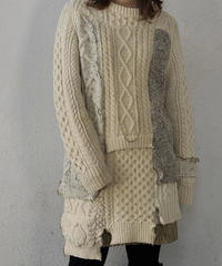 【RE;CIRCLE】 Patchwork Aran Knit ③ /210113-008
