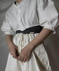 【USED】  White Cotton Tirol Shirt/210820-008