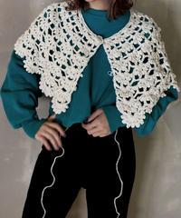 【USED】Key Knitting Short Cape / 201114-007