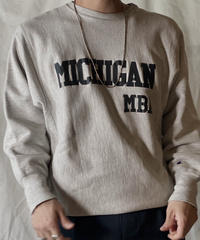 【Used】 80s USA Champion Reverse Weave Sweat MICHIGAN MBA / 201020-039