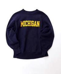 [USED] Champion Sweat Reverse Weave 7 (Navy/Yellow)Michigan