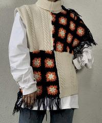 【RE;CIRCLE】 Granny Knit Vest /210125-007