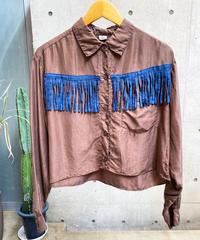 【RE;CIRCLE】L/S Silk Fringe Shirt/ 13