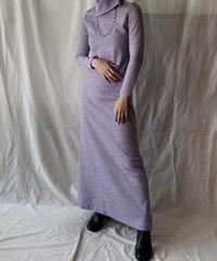 【USED】  Knit Turtleneck One-piece/210407-025