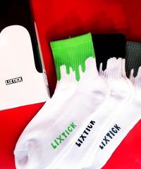 【LIXTICK】3P Sox (Green/Black/Grey)