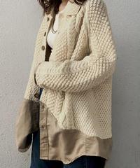 【RE;CIRCLE】 Docking Aran Knit Cardigan ① /210106-017