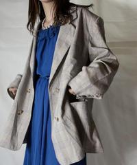 【USED】  Plaid Tailored Jacket/211014-047
