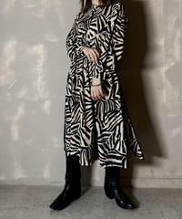 【USED】 Poly Zebra Patterned Dress / 201125-007