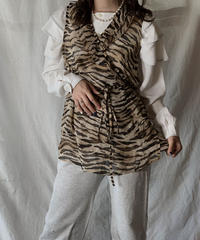 【USED】 Zebra Patterned See-through Top/210421-029