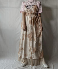 【RE;CIRCLE】  RE Tie-dyed Medical Camisole One-piece/20210819-034
