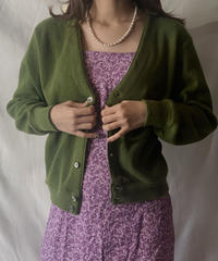 【USED】 Acrylic Knit Cardigan① /210303-001