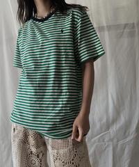 【USED】 Ralph Lauren S/S Border T-shirt/210611-005