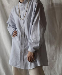 【RE;CIRCLE】 RE Stripe Band Collar Shirt④/210414-032