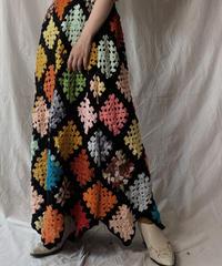 【RE;CIRCLE】 RE Granny Knit Long Skirt①/210421-013