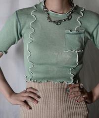 【RE;CIRCLE】 RE Knit Mellow S/S Top②/210708-030