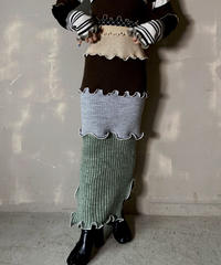 【RE;CIRCLE】 Mellow Rib Knit  Long Skirt