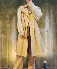 [Remake]   Knit Sleeve Trench Coat 2