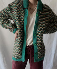 【USED】Crochet Knit Cardigan①/210217-037