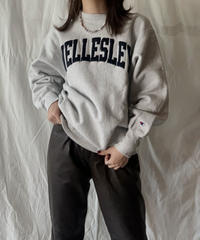 【USED】 90's USA Champion Reverse Weave WELLEALEY/210324-006
