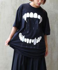 [yodare bear(ヨダレベア)] 牙 Big T-shirt (Black)