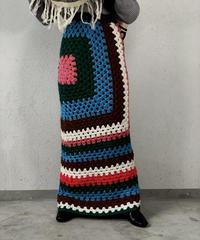 【RE;CIRCLE】 Granny Knit Long Skirt ③ /210125-0010
