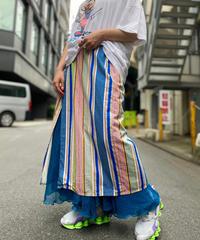 【Used】Stripe Wrap Skirt