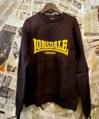 LONSDALE Flocky Print Sweat (Black/Yellow)