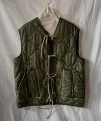 【受注生産】【RE;CIRCLE】 Remake Liner Vest With Ribbon