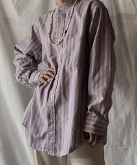 【RE;CIRCLE】 RE Stripe Band Collar Shirt③/210414-031