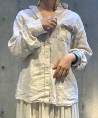 【Used】L/S LAND'S END Linen  Shirt
