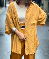 【Used】S/S Silk Shirts  Yellow