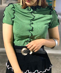 【RE;CIRCLE】 Spandex Mellow Lock Tops  GREEN