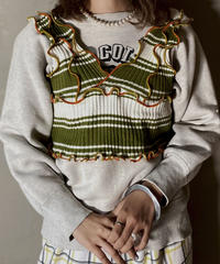 【RE;CIRCLE】L/S Mellow Rib Knit Bustier ①
