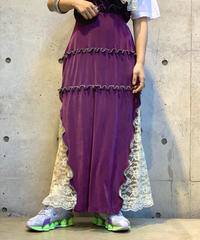 【RE;CIRCLE】Mellow × Lace Long Skirt  /200814-009