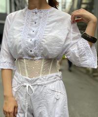 【Used】White Cotton Short Length Blouse