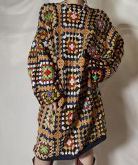 【RE;CIRCLE】 RE Granny Knit L/S Top/210917-012