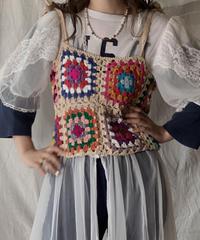 【NEW】 Granny Knit Bustier①/210421-018